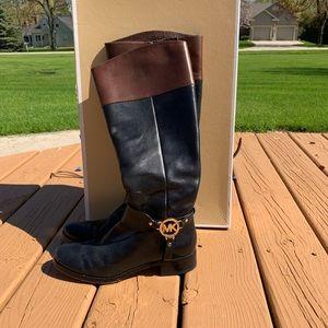 Michael Kors Fulton Harness Boot Wide Calf